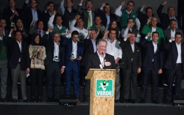 José Antonio Meade en la presentación de la plataforma electoral del Partido Verde Ecológista de México. Archivo. CUARTOSCURO.