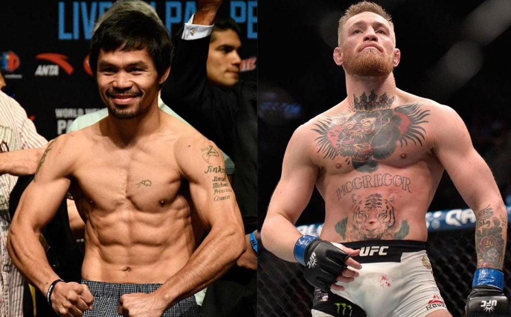 Manny Pacquiao aceptó que ha iniciado negociaciones con el campeón de MMA Conor McGregor para tener un eventual combate en abril