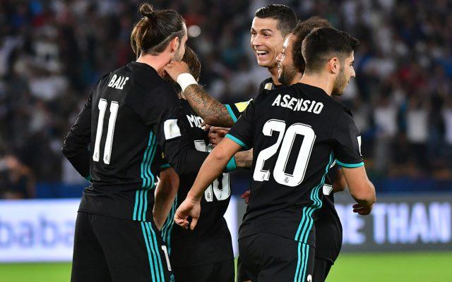 Con goles de Cristiano Ronaldo y Gareth Bale, Real Madrid vino de atrás para vencer 2-1 al Al Jazira y avanzar a la final contra Gremio de Porto Alegre