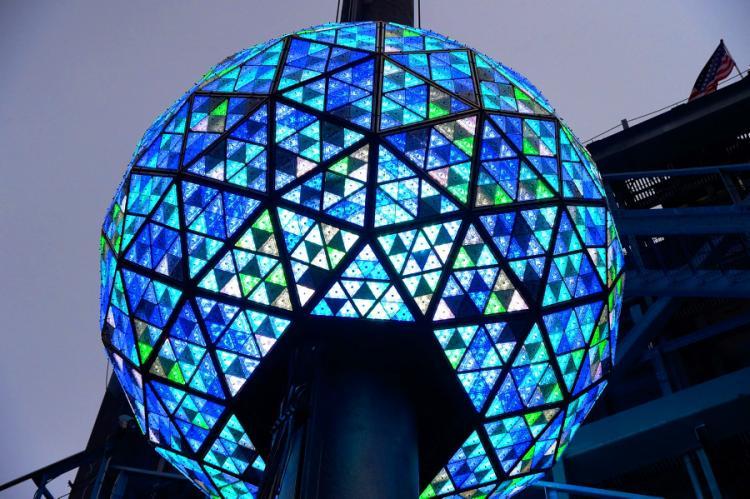 VIDEO: Esfera de Times Square tuvo su prueba final para esta noche