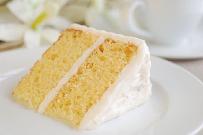 #RecetasFindeAño Pastel de vainilla con merengue