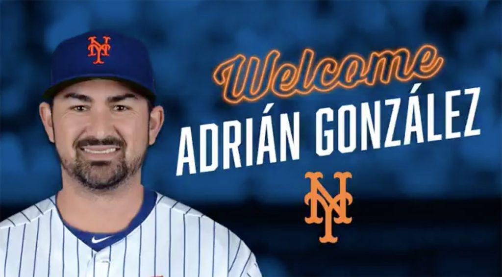 El toletero mexicano Adrián González llegó a un acuerdo por un año con los Mets de Nueva York, pero Atlanta es responsable de su salario