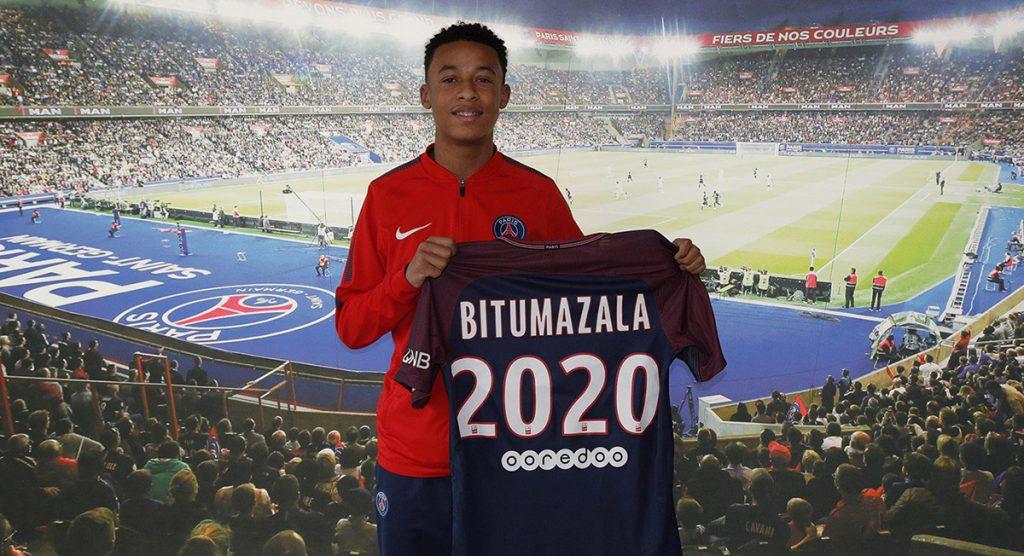 El París Saint-Germain oficializó el fichaje de Nathan Bitumazala, un volante de 15 años que estaba a prueba con el equipo francés