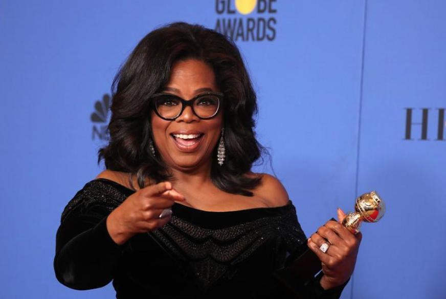 Quieren a Oprah Winfrey para presidente en 2020, tras discurso #timesup