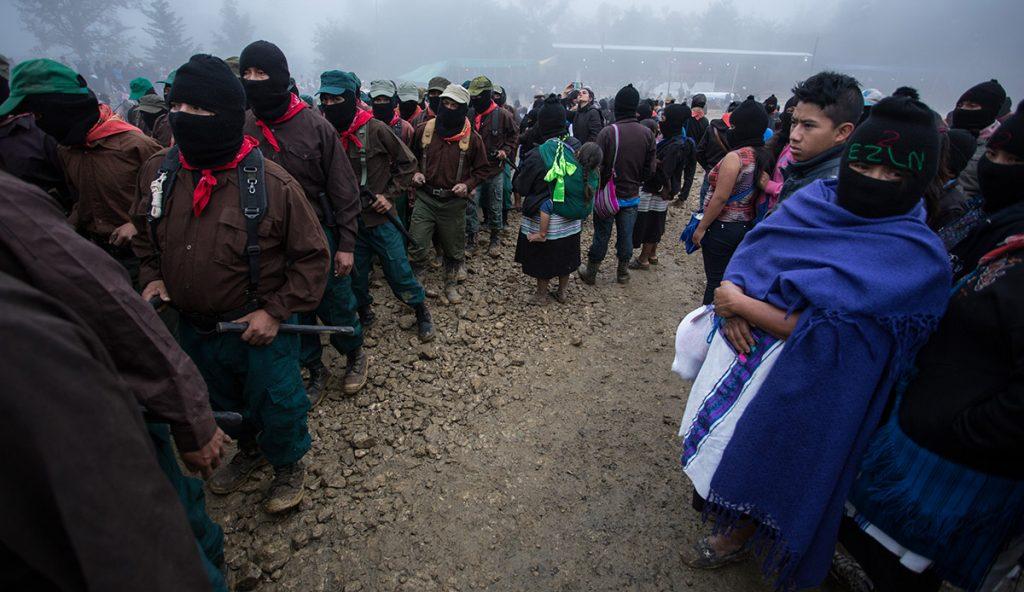 Militantes y simpatizantes del Ejército Zapatista de Liberación Nacional (EZLN) conmemoraron el surgimiento de su movimiento del 1 de enero de 1994