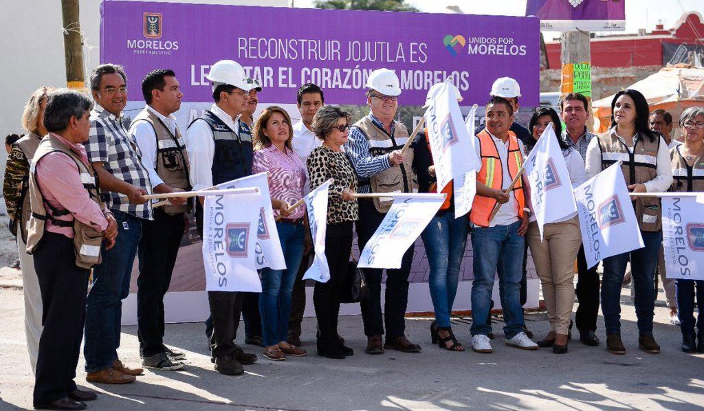 Encabezados por el Gobernador Graco Ramírez, autoridades de Morelos iniciaron trabajos de reconstrucción del municipio de Jojutla, uno de los más afectados por el sismo del 19 de septiembre