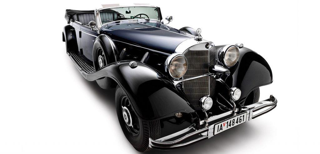 El Mercedes negro, modelo 1939, que perteneció a Adolf Hitler no encontró comprador en la subasta realizada en Arizona