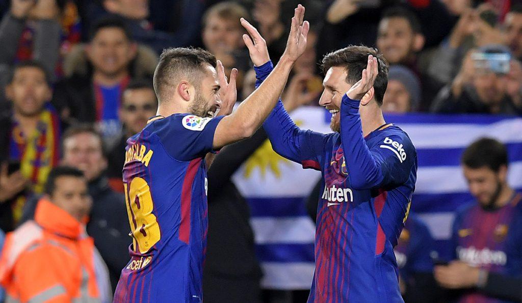 Lionel Messi se volvió a asociar con Jordi Alba para destrozar 5-0 al Celta de Vigo, en la vuelta de los octavos de final de la Copa del Rey