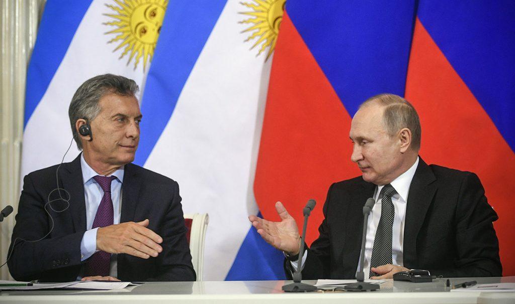 """El presidente de Argentina, Mauricio Macri, comentó en Rusia que """"sólo Dios y Messi"""" dirán si la albiceleste levantará la Copa FIFA en la justa rusa"""