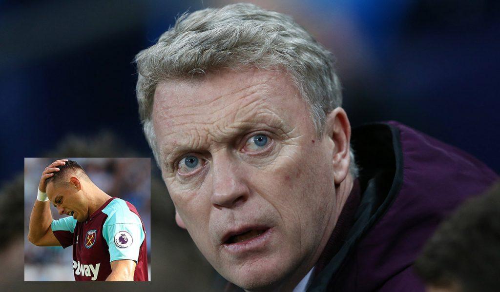 David Moyes, técnico del West Ham inglés, aclaró que no le interesa que salga ninguno de sus delanteros del equipo, entre ellos Javier Hernández