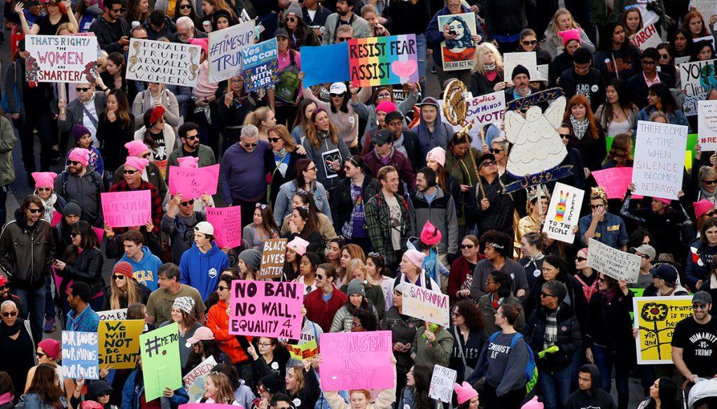 A un año del gobierno de Donald Trump, miles de mujeres tomaron las calles de Estados Unidos para defender sus derechos