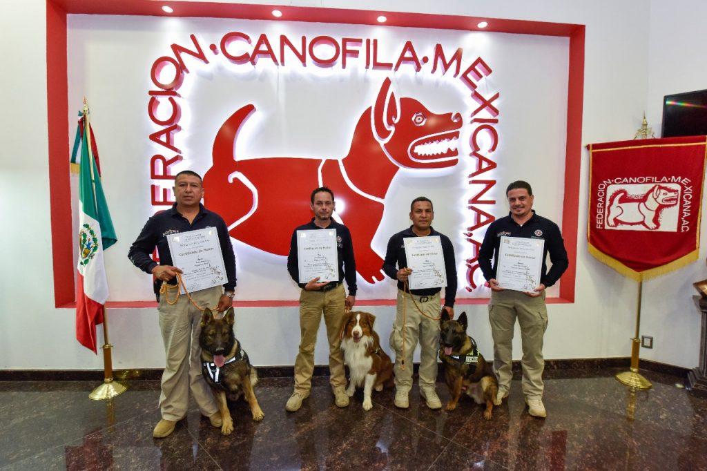 Reconocen Unidad Canina de Naucalpan