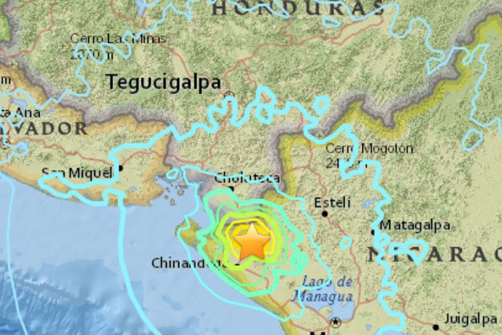 Sismo sacude Nicaragua y parte de Costa Rica