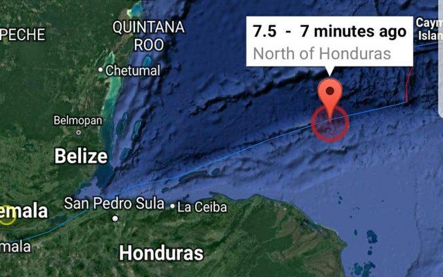 Alerta de alto oleaje en costas del Caribe mexicano por sismo en Honduras