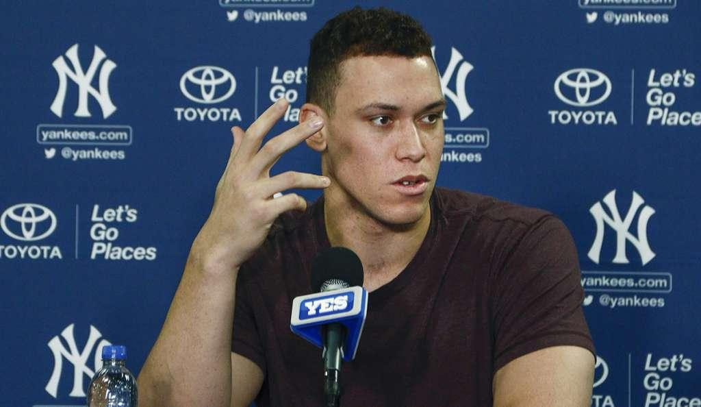 El Novato del Año de la Liga Americana, Aaron Judge realizó su primera práctica de bateo desde su operación en el hombro izquierdo; asegura que estará listo para el inicio de temporada con Yankees