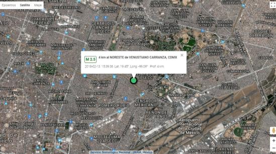 Se registra leve sismo en la Venustiano Carranza