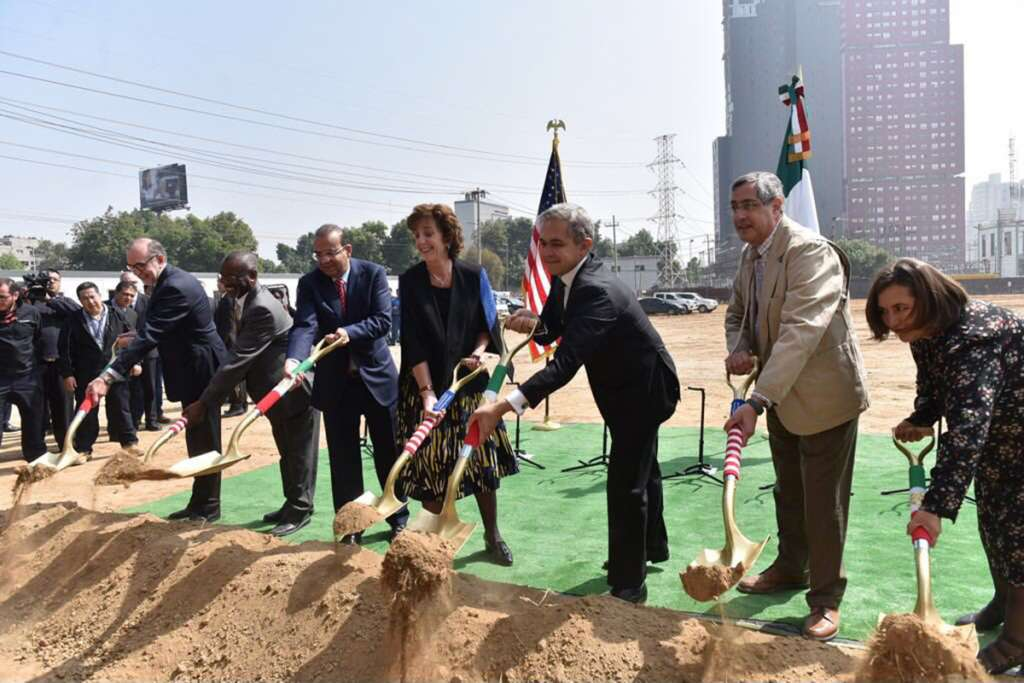 Inician obras de nueva embajada de EU en México