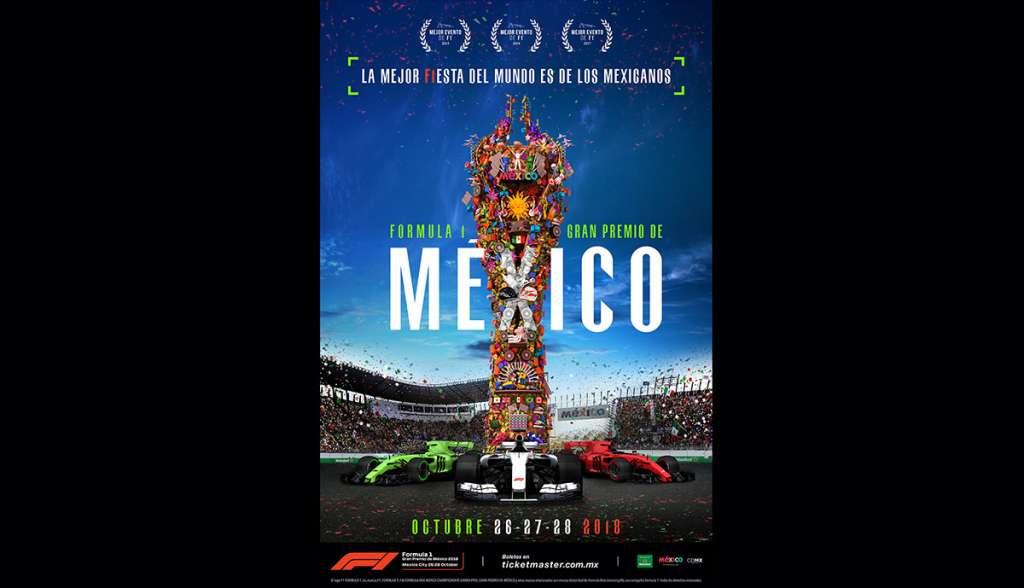 Presentan cartel oficial del Gran Premio de México 2018