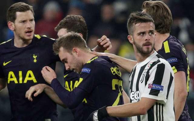 El Tottenham se repuso de un 2-0 en contra y sacó un empate muy valioso 2-2 en la cancha de la Juventus, dentro de la ida de los octavos de final de la Champions League