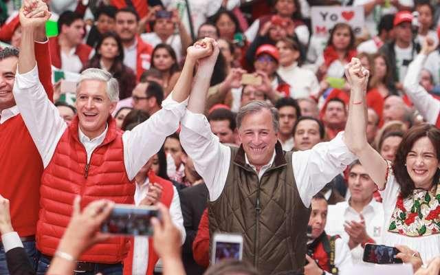 Arropado por la militancia priista, José Antonio Meade cerró su precampaña a la Presidencia de México confiado en ganar las elecciones del 1 de julio