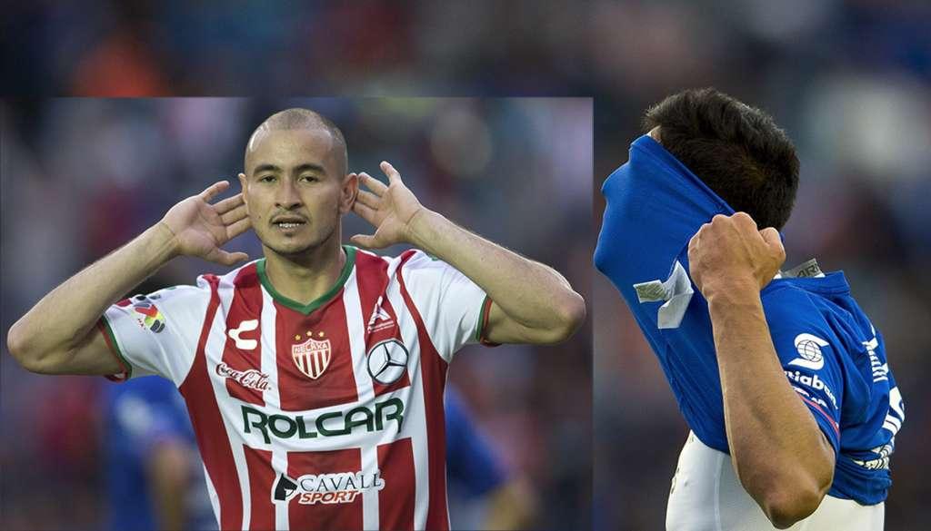 Con dos descargas y un Marcelo Barovero en plan grande, Necaxa venció 2-0 a Cruz Azul en el estadio Azul, donde la Máquina no sabe ganar