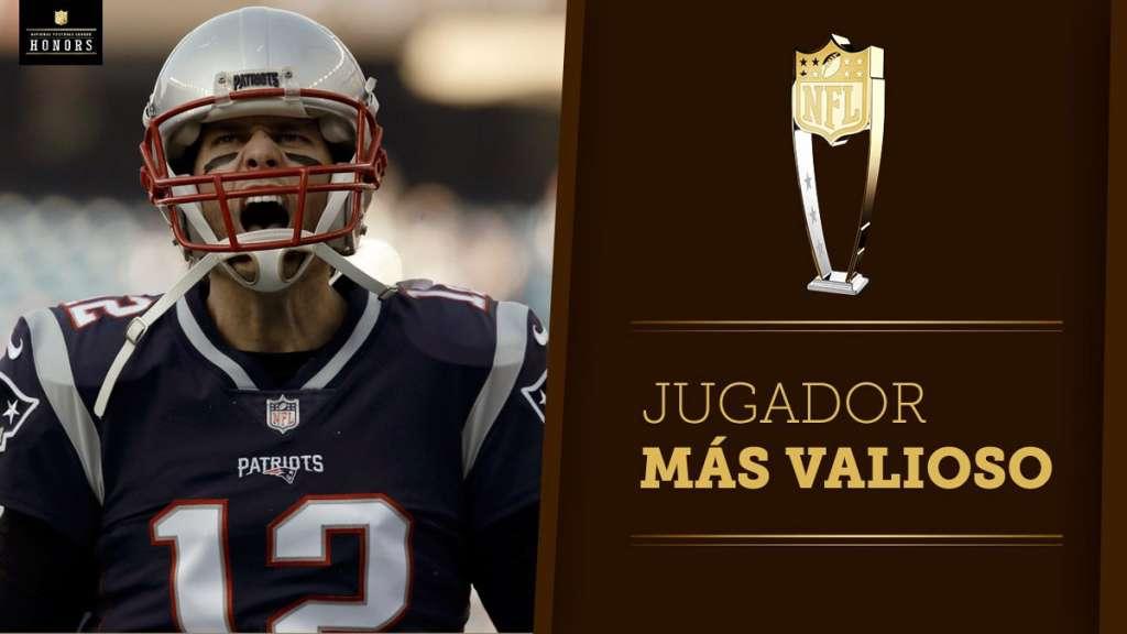 El quarterback de los Patriotas de Nueva Inglaterra, Tom Brady, fue reconocido como el Jugador Más Valioso de la temporada; este domingo podría ganar su sexto anillo de SuperBowl