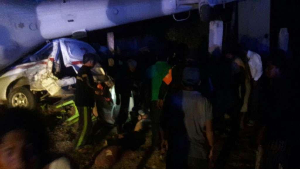 Cae helicóptero donde viajaban Navarrete y Murat, ambos ilesos