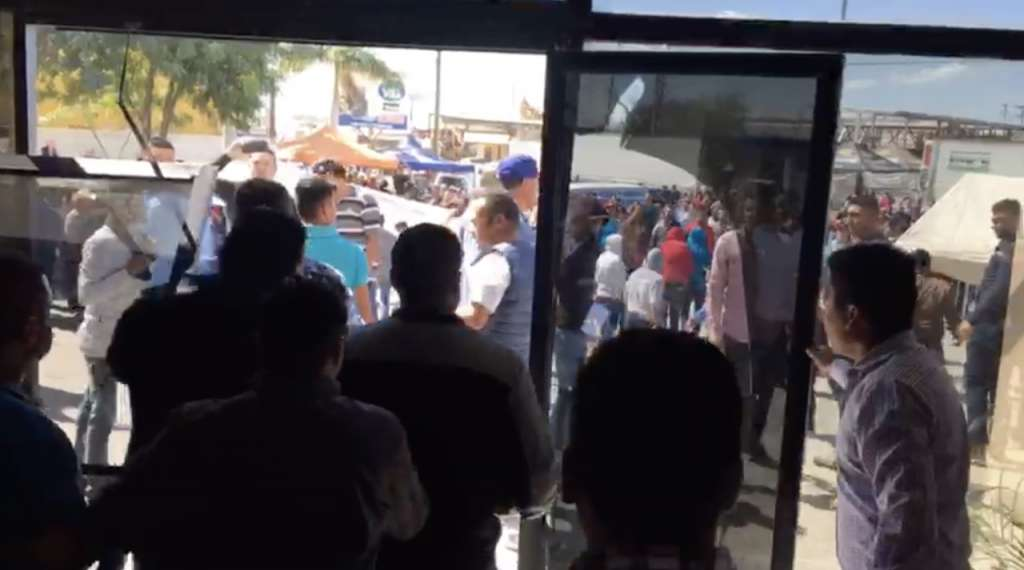 Zafarrancho en Cd. Obregón Sonora en asamblea municipal del PRI
