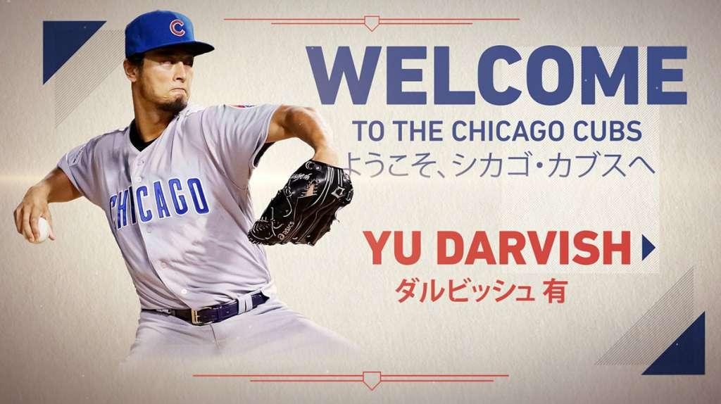 El pitcher japonés Yu Darvish y los Cachorros de Chicago llegaron a un acuerdo contractual por seis años y 126 millones de dólares