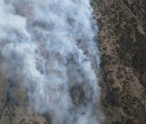 Se registra incendio en reserva binacional Tacaná