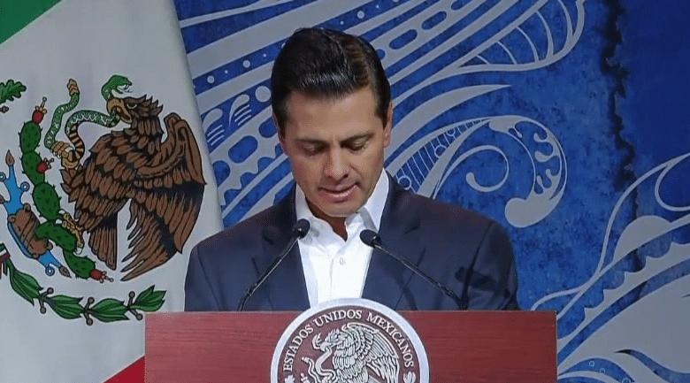 Llamado de Peña Nieto a proteger océanos y mares