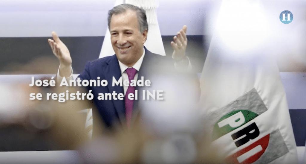 José Antonio Meade se registró ante el INE