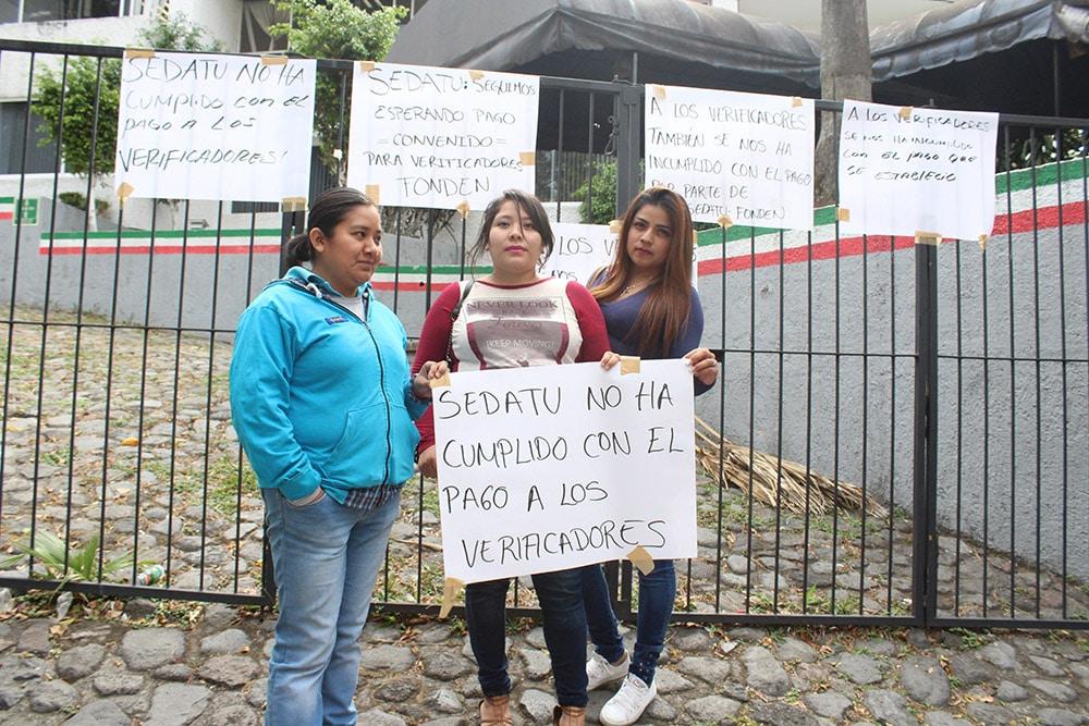 Verificadores reclaman a Sedatu falta de pagos en Morelos
