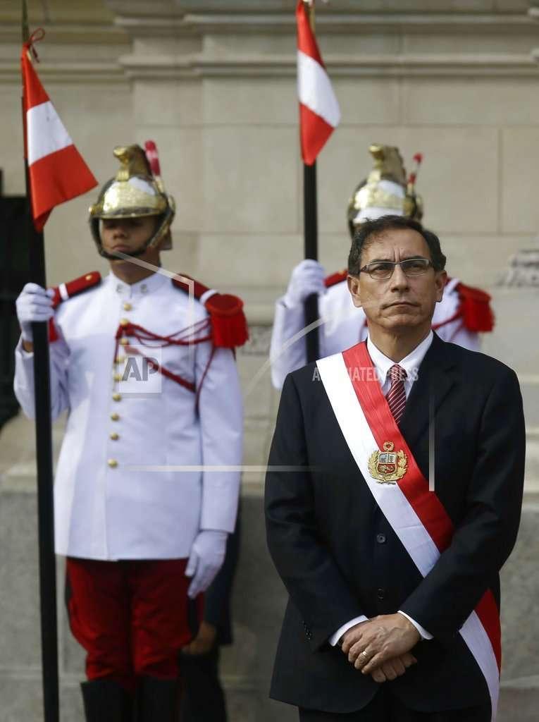 Martín Vizcarra, presidente de Perú, asumió funciones en 2018. Foto: AP