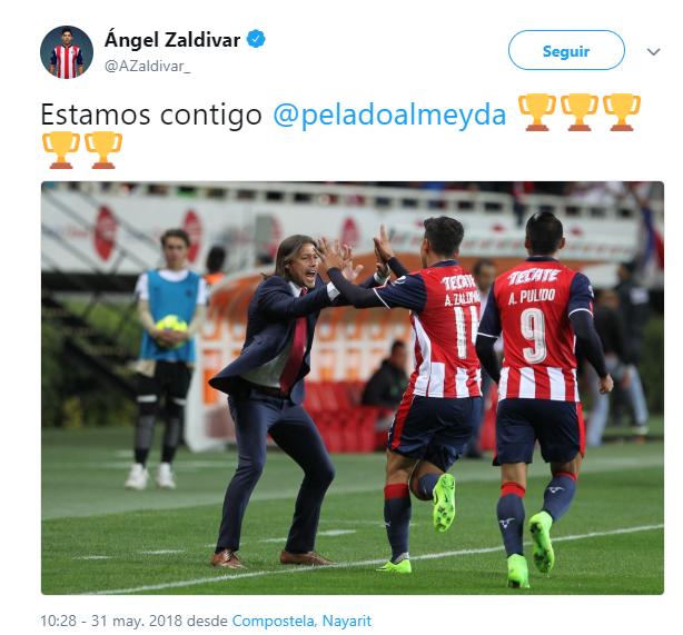 Jugadores muestran apoyo a Matías Almeyda en redes sociales