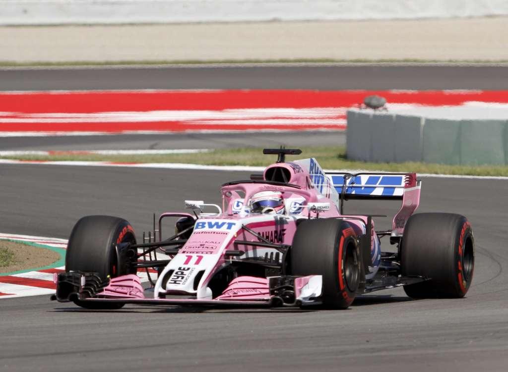 Alcanza Sergio Pérez posiciones 13 y 10 dentro del GP de España de F1