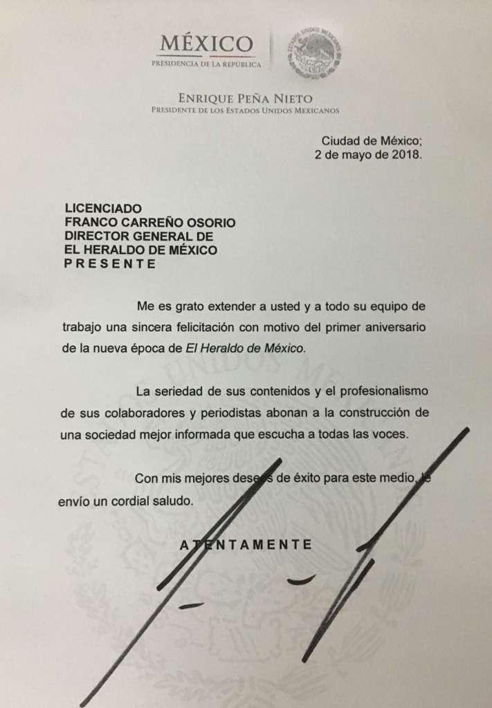 Cartas De Felicitaci N A El Heraldo