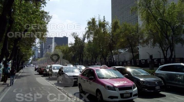 Restablecen la circulación en avenidas tras paso de la CNTE por Reforma