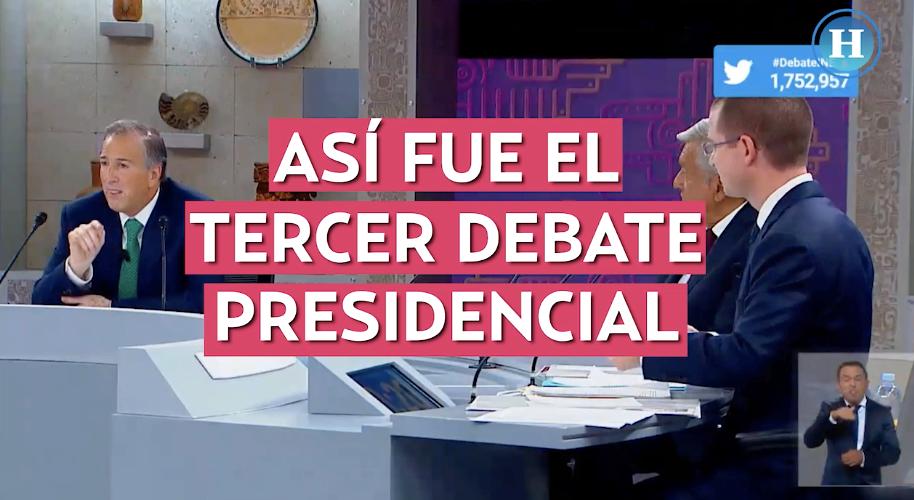 El tercer debate presidencial en cinco minutos