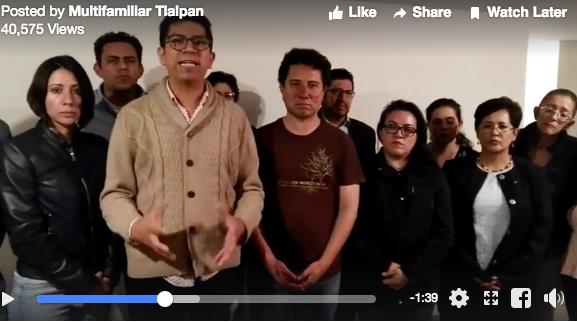 VIDEO: Damnificados del Multifamiliar Tlalpan denuncian agresiones