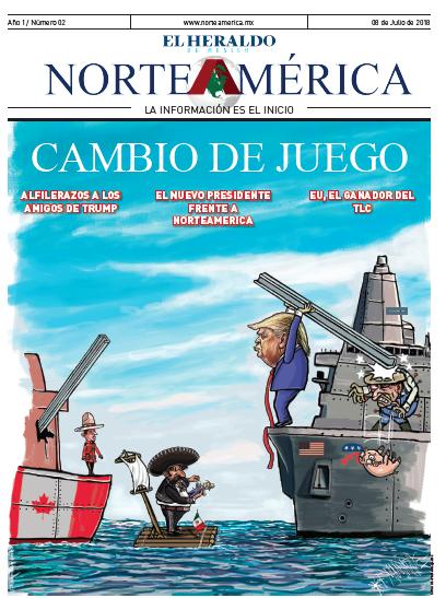 Heraldo de México: Norteamérica 8 de julio de 2018