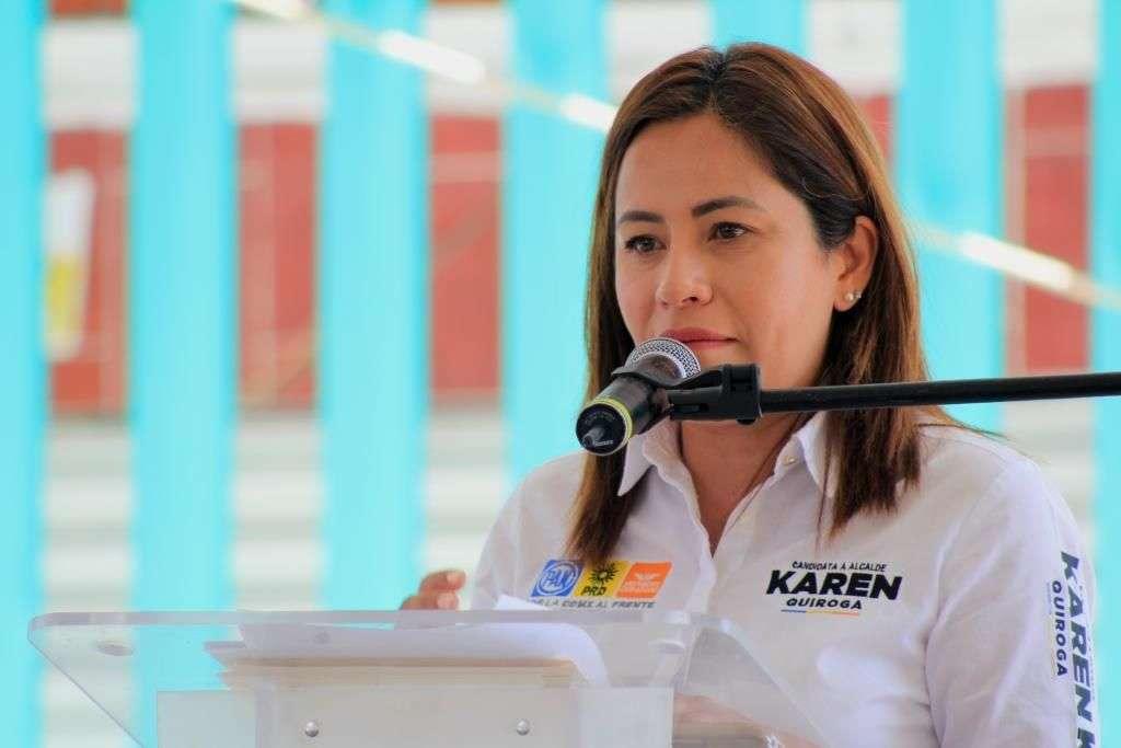 Karen Quiroga plantea programa de educación que consta de 4 ejes en Iztapalapa