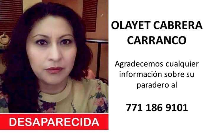 Olayet Cabrera tiene una semana desaparecida y sus familiares realizan protesta