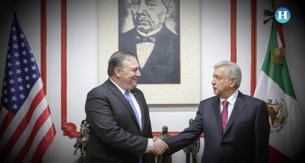 Así fue la reunión entre López Obrador y Mike Pompeo