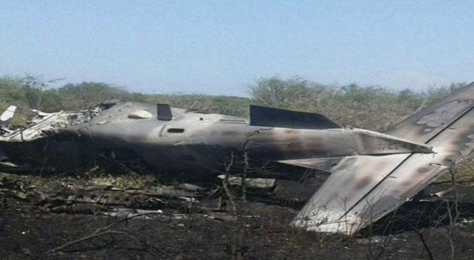 Se desploma una aeronave de la Fuerza Aérea Mexicana en Oaxaca