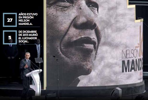 Vive lucha de Mandela