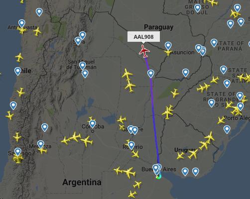 Avión de AA con destino a Miami se despresuriza y regresa a Buenos Aires, en el viajaba Christine Lagarde