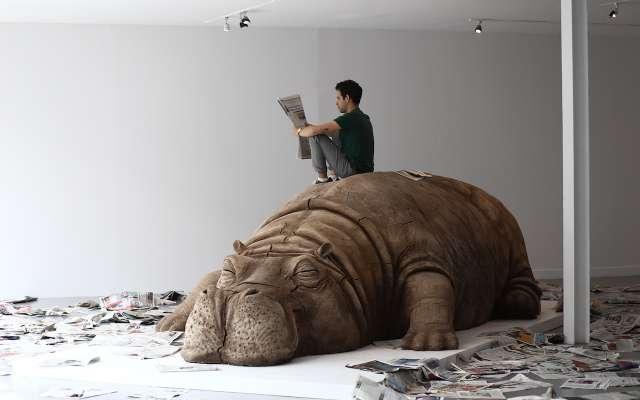Un hipopótamo cuestiona la corrupción en México