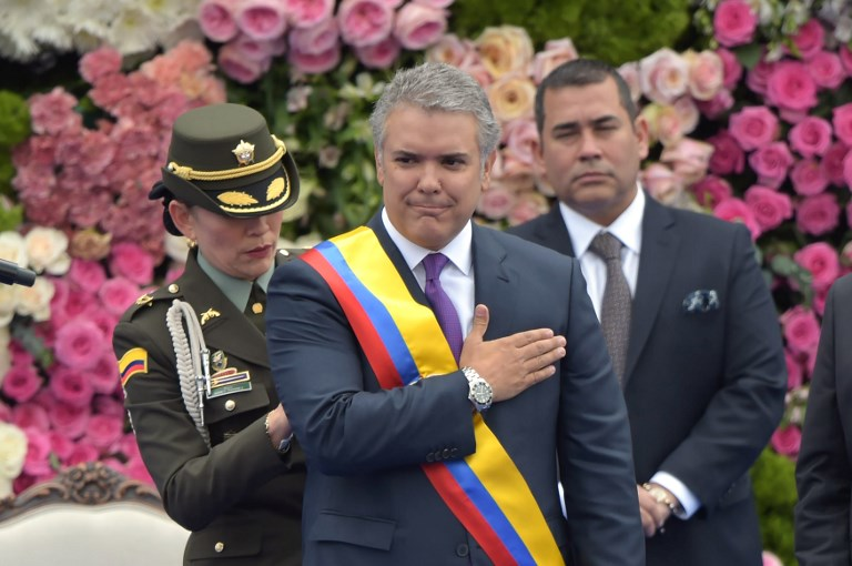 Iván Duque, el nuevo presidente de Colombia anuncia endurecimiento en condiciones en proceso de paz