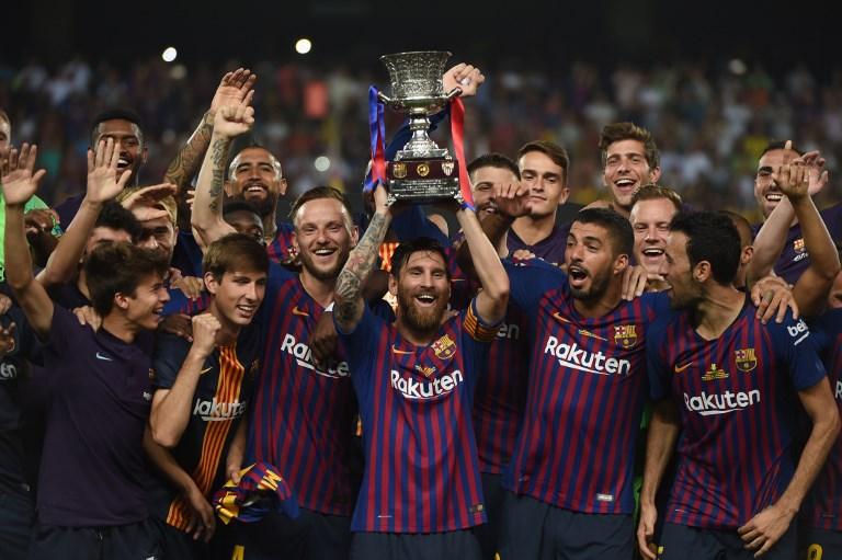 La victoria permitió a Messi convertirse en el hombre con más títulos del Barcelona. AFP / FADEL SENNA